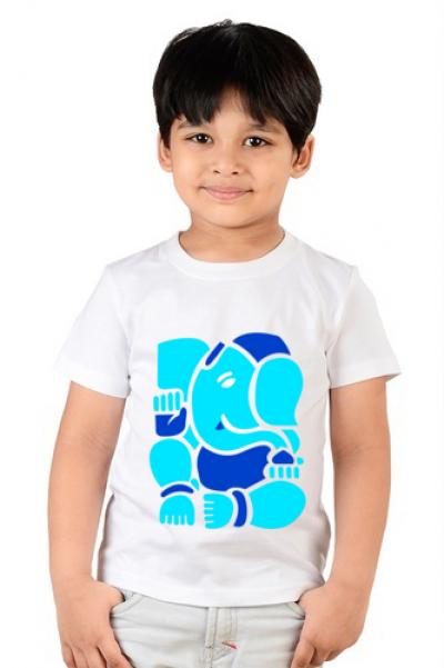 Ganesh Chaturthi Kids Graphic Photo Printed T-shirt